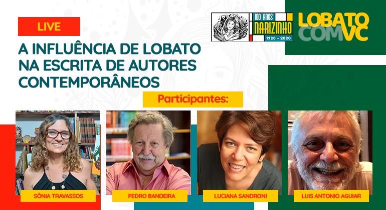 Live aborda influência de Monteiro Lobato em autores contemporâneos