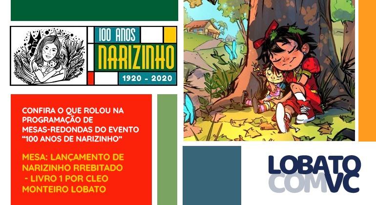 LANÇAMENTO DE NARIZINHO ARREBITADO – LIVRO 1 POR CLEO MONTEIRO LOBATO