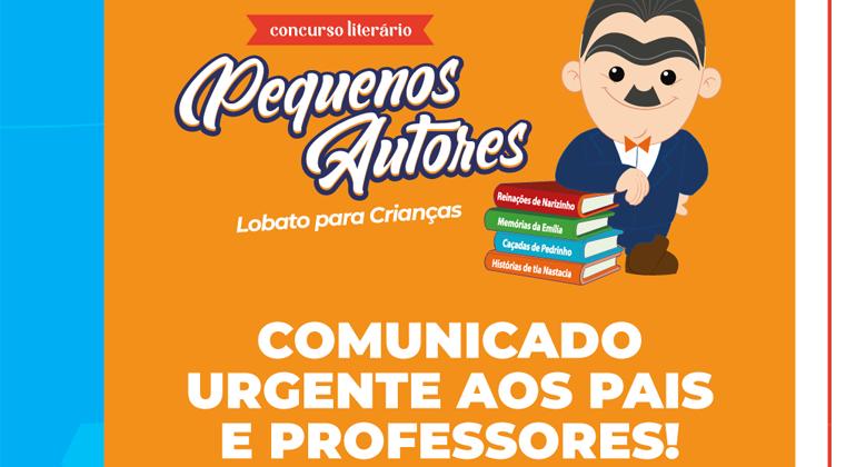 COMUNICADO URGENTE AOS PAIS E PROFESSORES